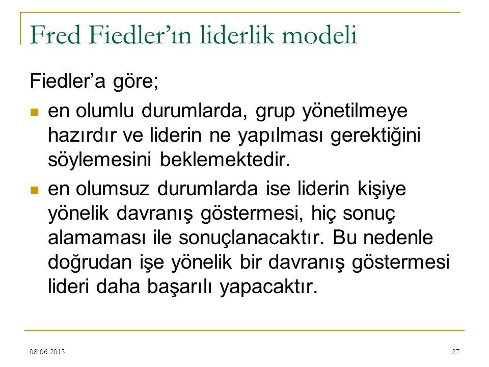 Fred Fiedler'ın liderlik modeli