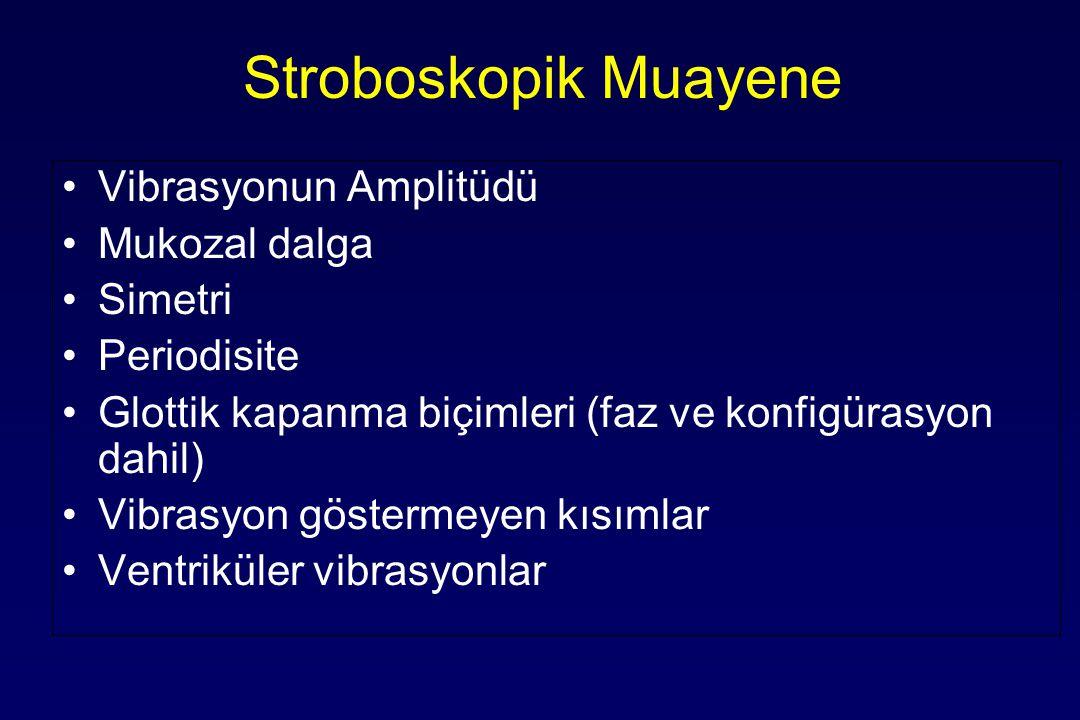 Stroboskopik Muayene Vibrasyonun Amplitüdü Mukozal dalga Simetri