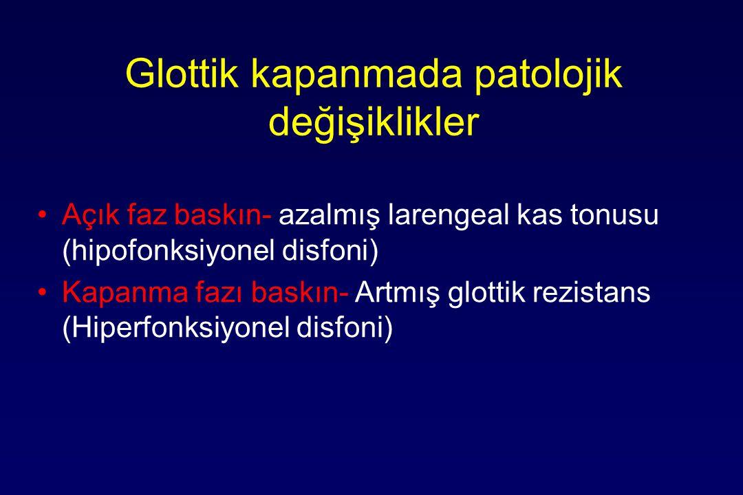 Glottik kapanmada patolojik değişiklikler
