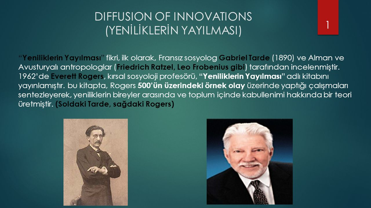 DIFFUSION OF INNOVATIONS (YENİLİKLERİN YAYILMASI)
