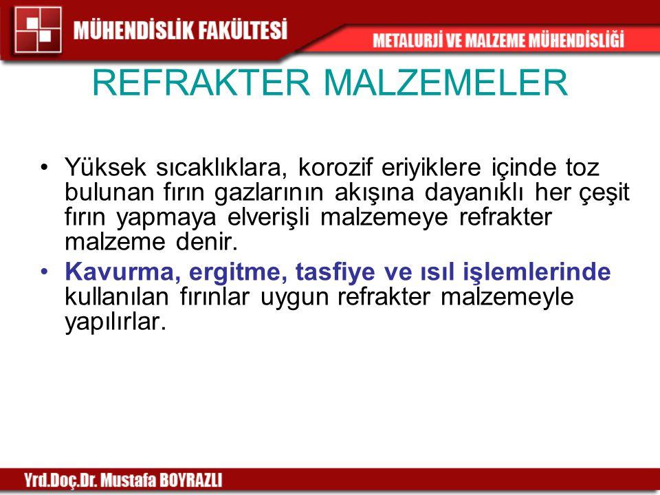 REFRAKTER MALZEMELER