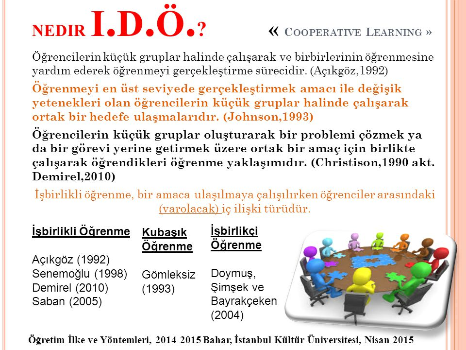 nedir i.d.ö. « Cooperative Learning »