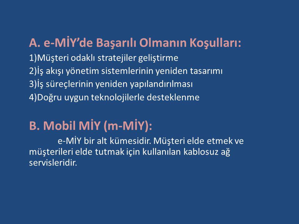 A. e-MİY'de Başarılı Olmanın Koşulları: