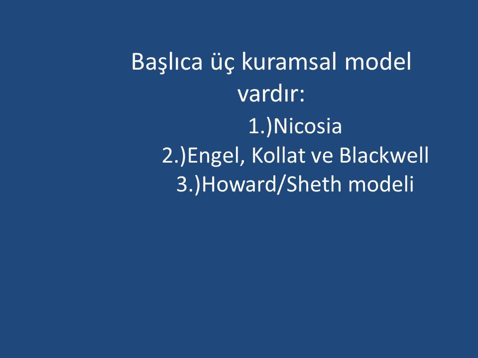 Başlıca üç kuramsal model vardır:. 1. )Nicosia. 2