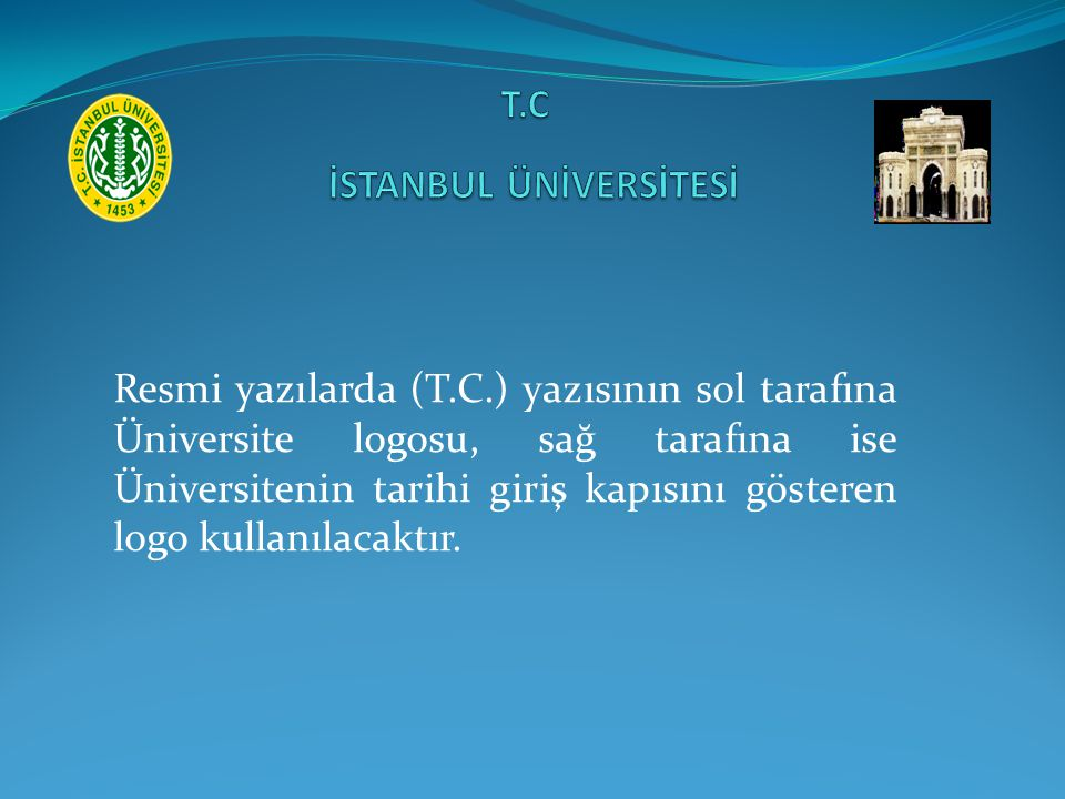 T.C İSTANBUL ÜNİVERSİTESİ