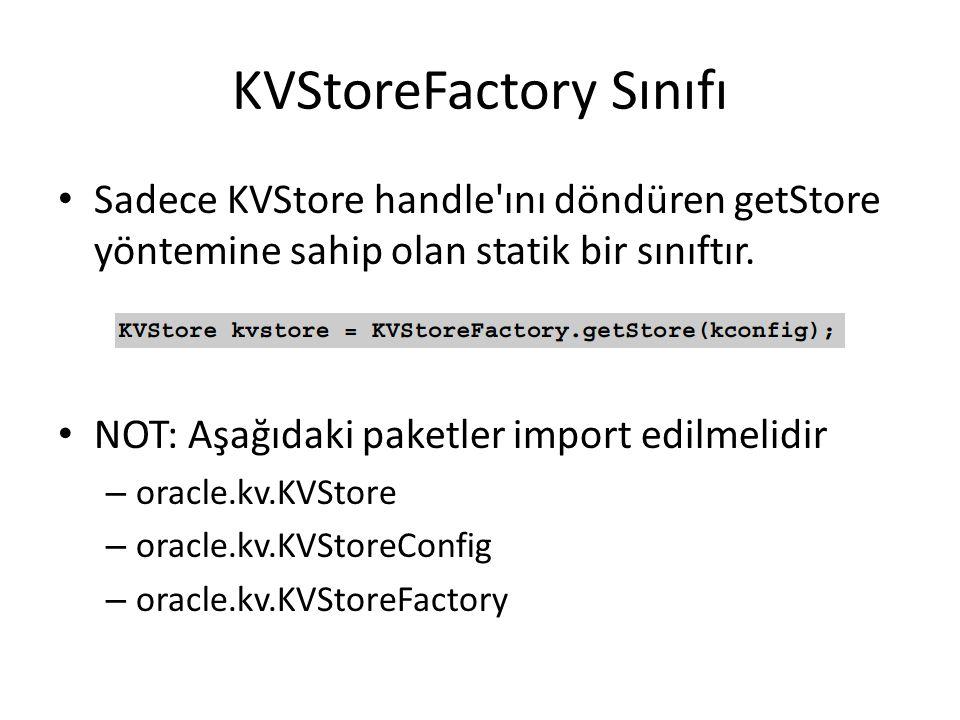 KVStoreFactory Sınıfı