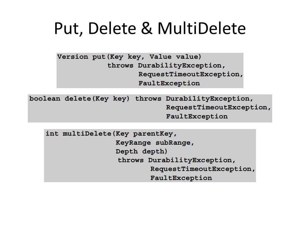 Put, Delete & MultiDelete