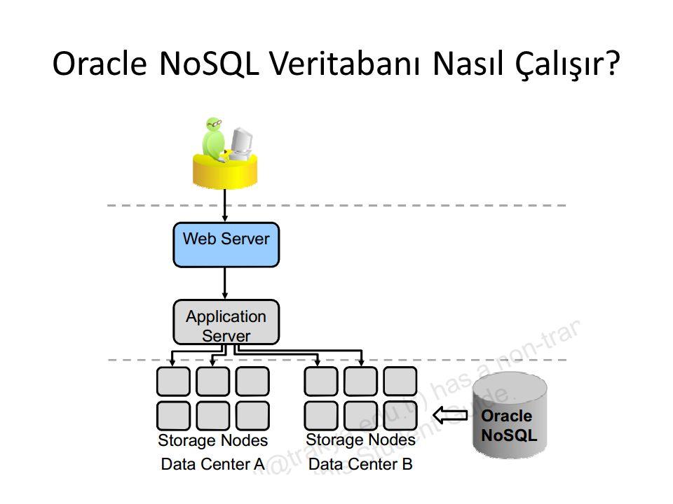 Oracle NoSQL Veritabanı Nasıl Çalışır