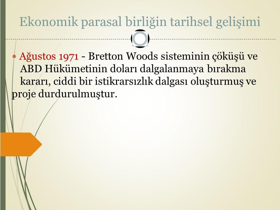 Ekonomik parasal birliğin tarihsel gelişimi