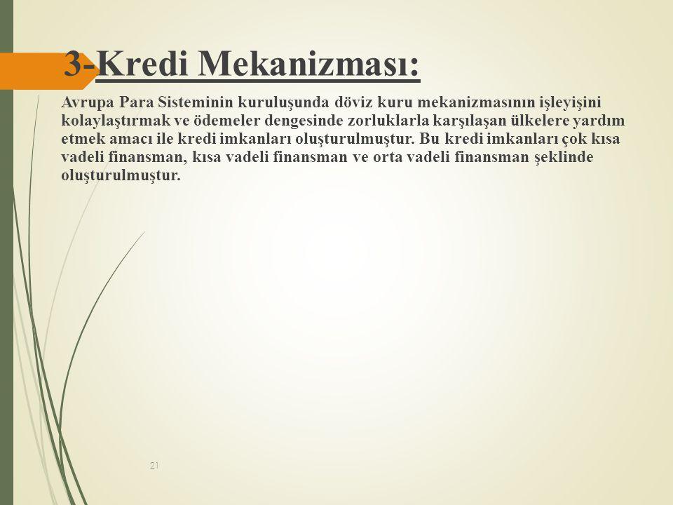 3-Kredi Mekanizması: