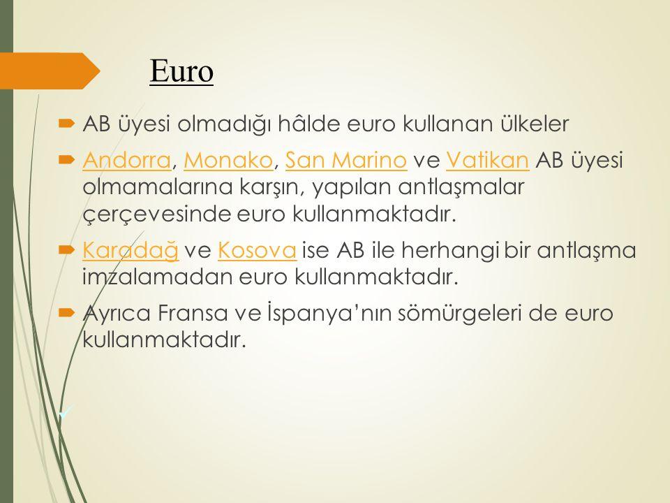 Euro AB üyesi olmadığı hâlde euro kullanan ülkeler