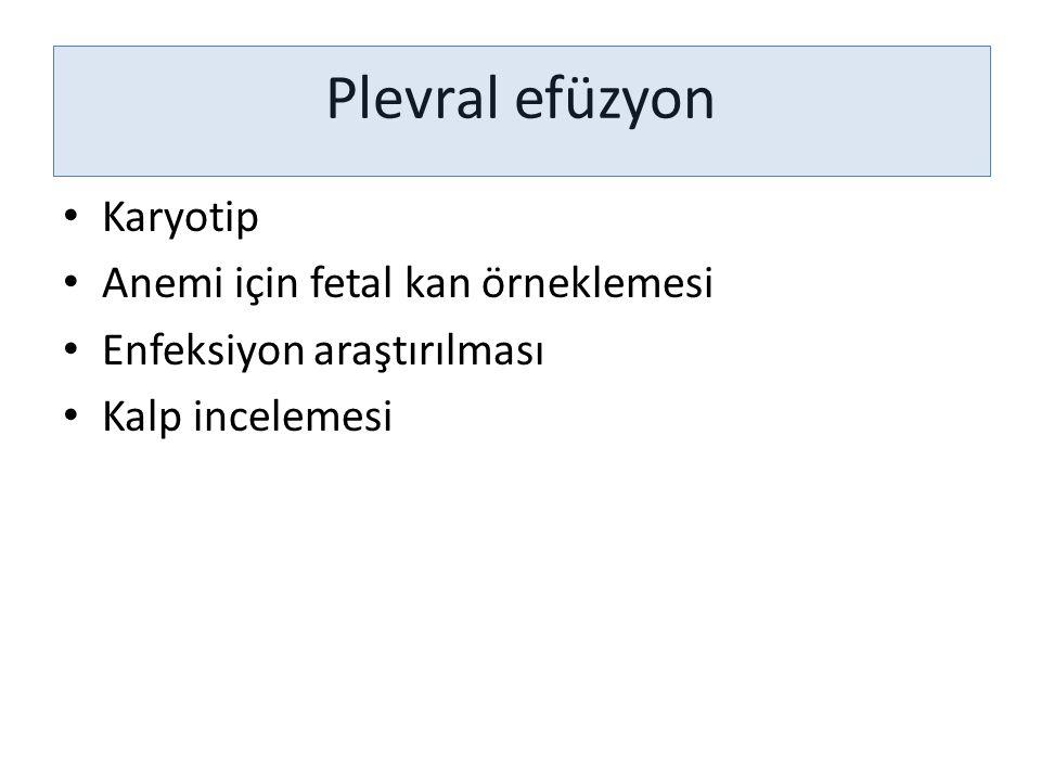 Plevral efüzyon Karyotip Anemi için fetal kan örneklemesi