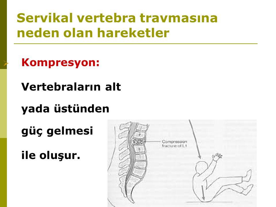 Servikal vertebra travmasına neden olan hareketler