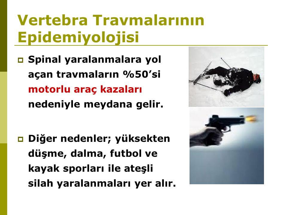 Vertebra Travmalarının Epidemiyolojisi