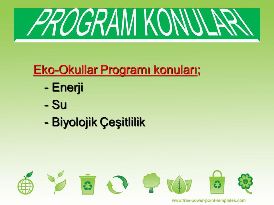 PROGRAM KONULARI - Enerji - Su - Biyolojik Çeşitlilik