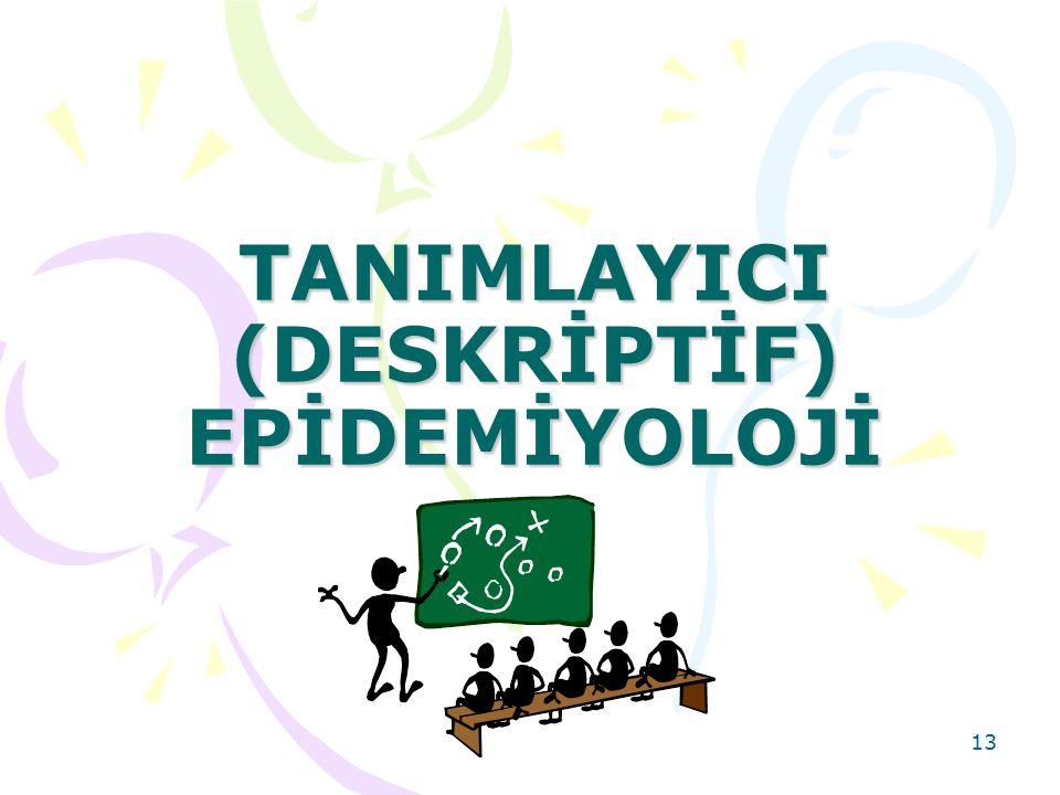 TANIMLAYICI (DESKRİPTİF) EPİDEMİYOLOJİ