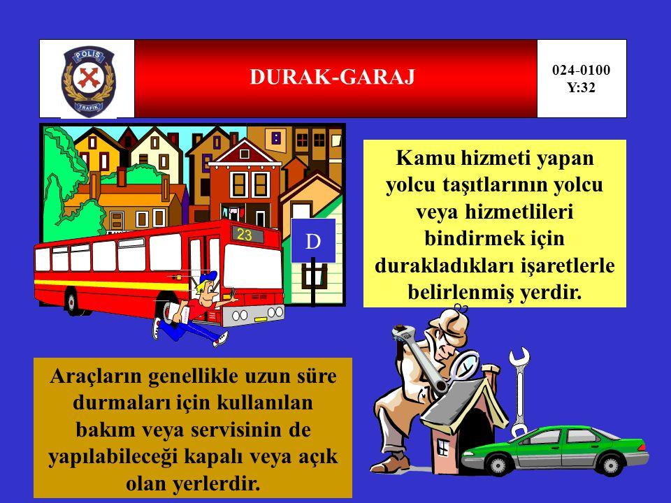 DURAK-GARAJ 024-0100. Y:32.