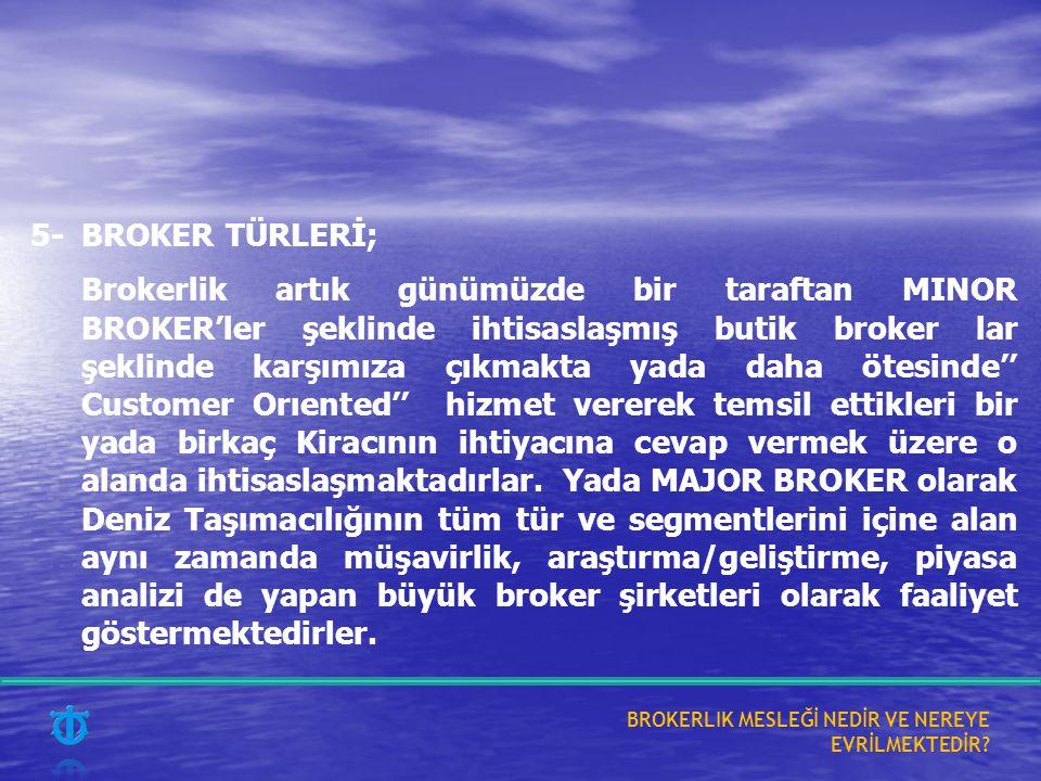 5- BROKER TÜRLERİ;