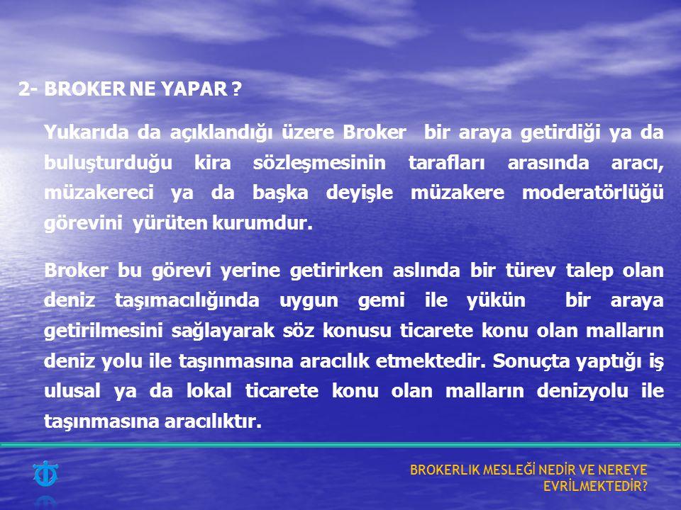 2- BROKER NE YAPAR