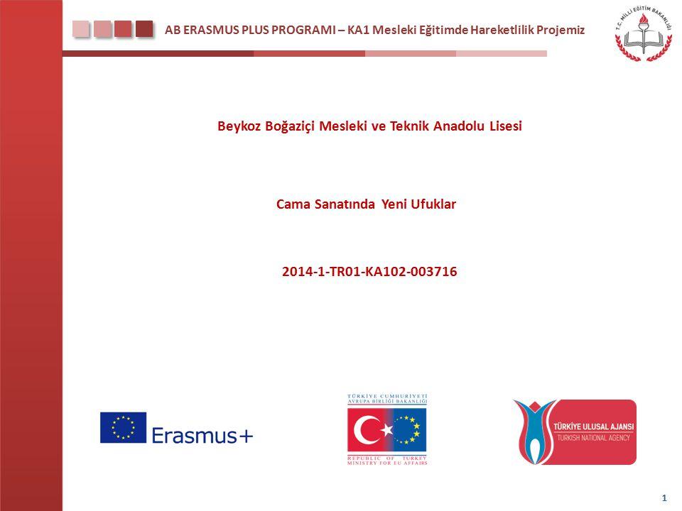 AB ERASMUS PLUS PROGRAMI – KA1 Mesleki Eğitimde Hareketlilik Projemiz