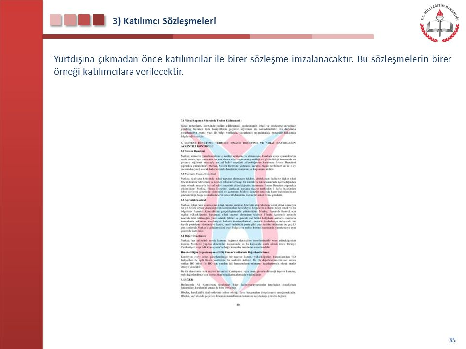 3) Katılımcı Sözleşmeleri