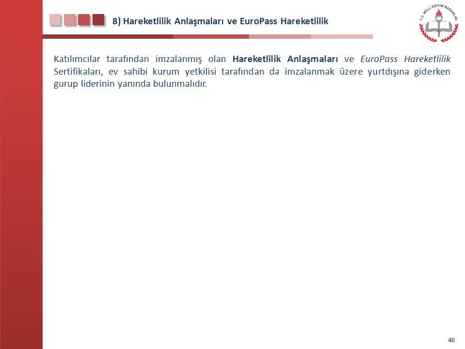 8) Hareketlilik Anlaşmaları ve EuroPass Hareketlilik