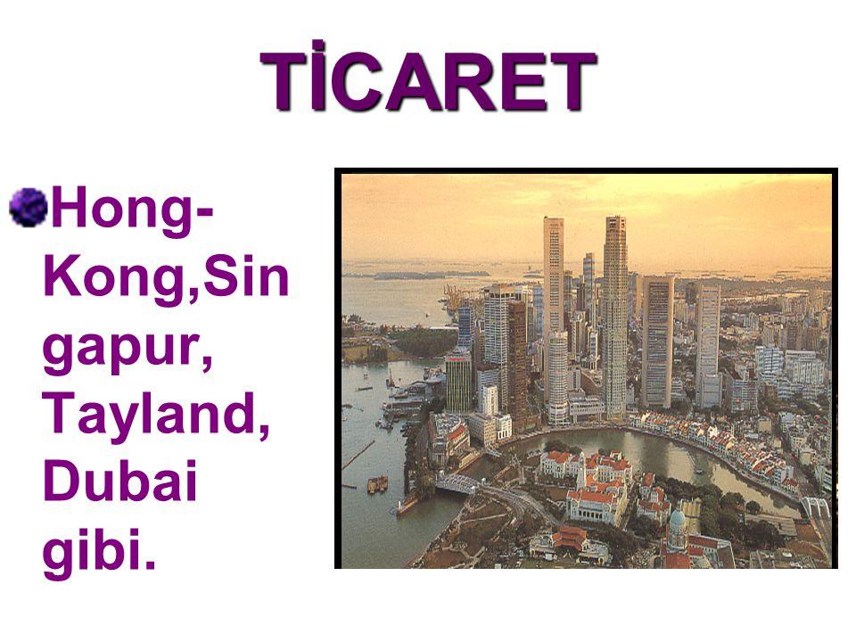TİCARET Hong-Kong,Singapur, Tayland, Dubai gibi.