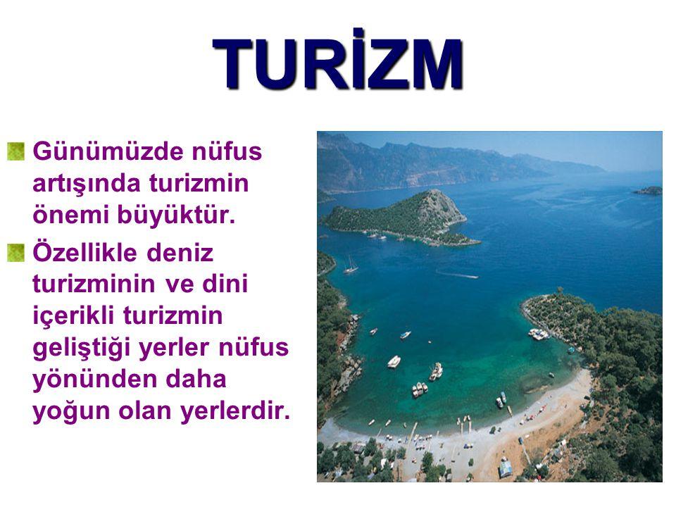 TURİZM Günümüzde nüfus artışında turizmin önemi büyüktür.