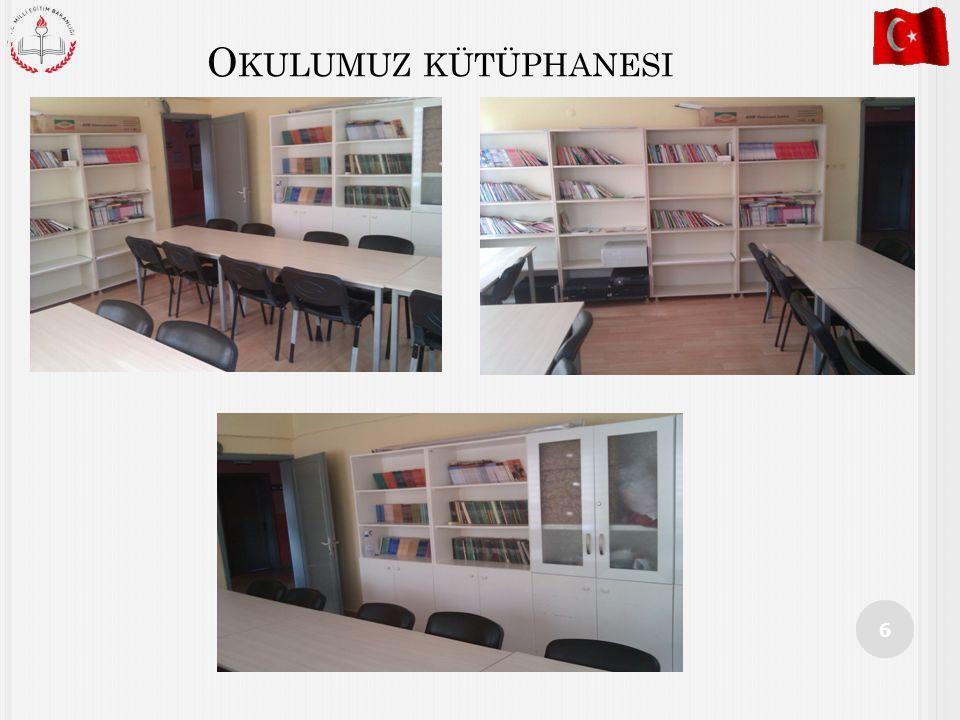 Okulumuz kütüphanesi