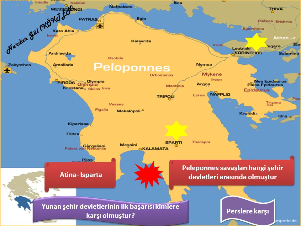 Peleponnes savaşları hangi şehir devletleri arasında olmuştur