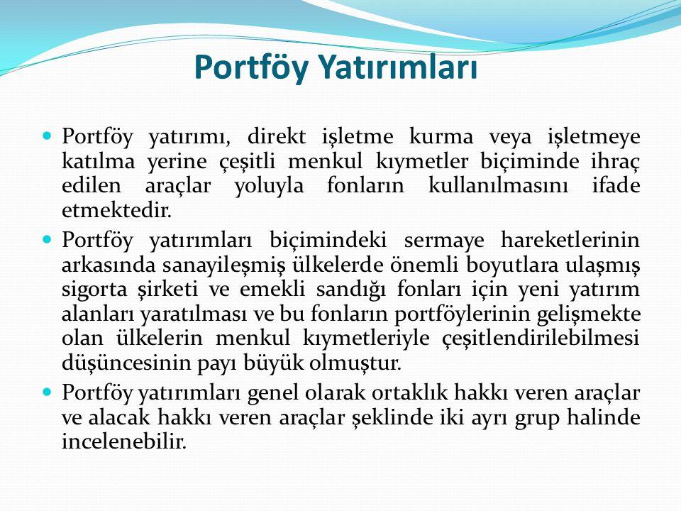 Portföy Yatırımları