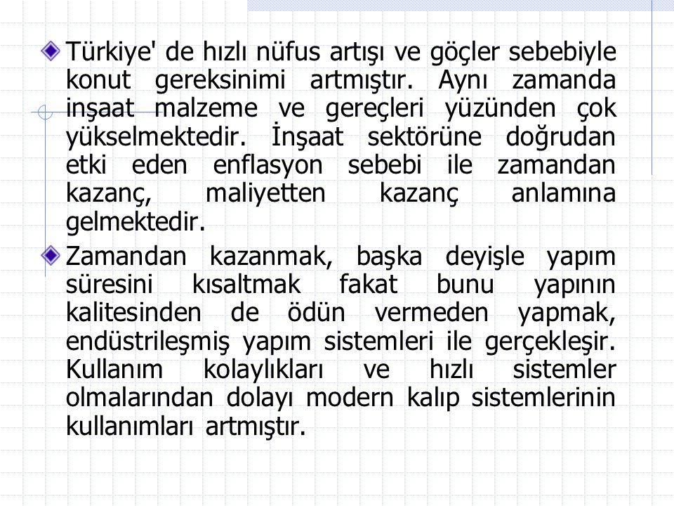 Türkiye de hızlı nüfus artışı ve göçler sebebiyle konut gereksinimi artmıştır. Aynı zamanda inşaat malzeme ve gereçleri yüzünden çok yükselmektedir. İnşaat sektörüne doğrudan etki eden enflasyon sebebi ile zamandan kazanç, maliyetten kazanç anlamına gelmektedir.