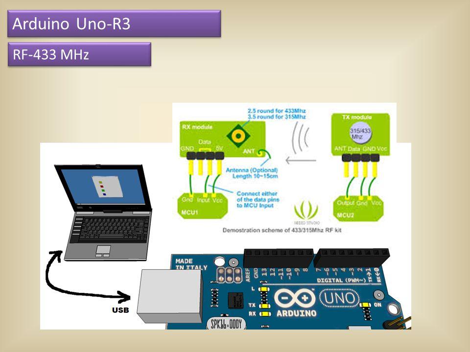 Arduino Uno-R3 RF-433 MHz