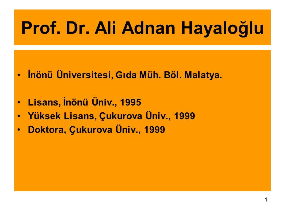 Prof. Dr. Ali Adnan Hayaloğlu