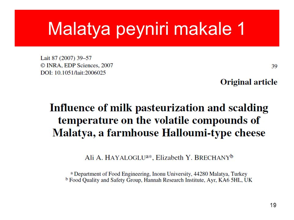 Malatya peyniri makale 1