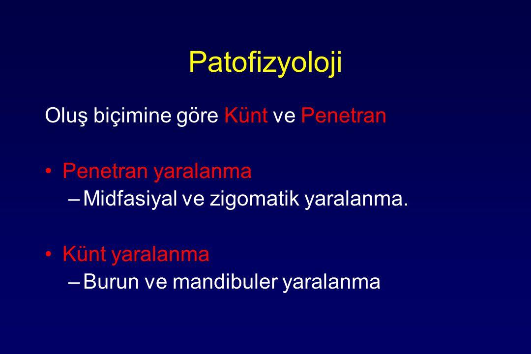 Patofizyoloji Oluş biçimine göre Künt ve Penetran Penetran yaralanma
