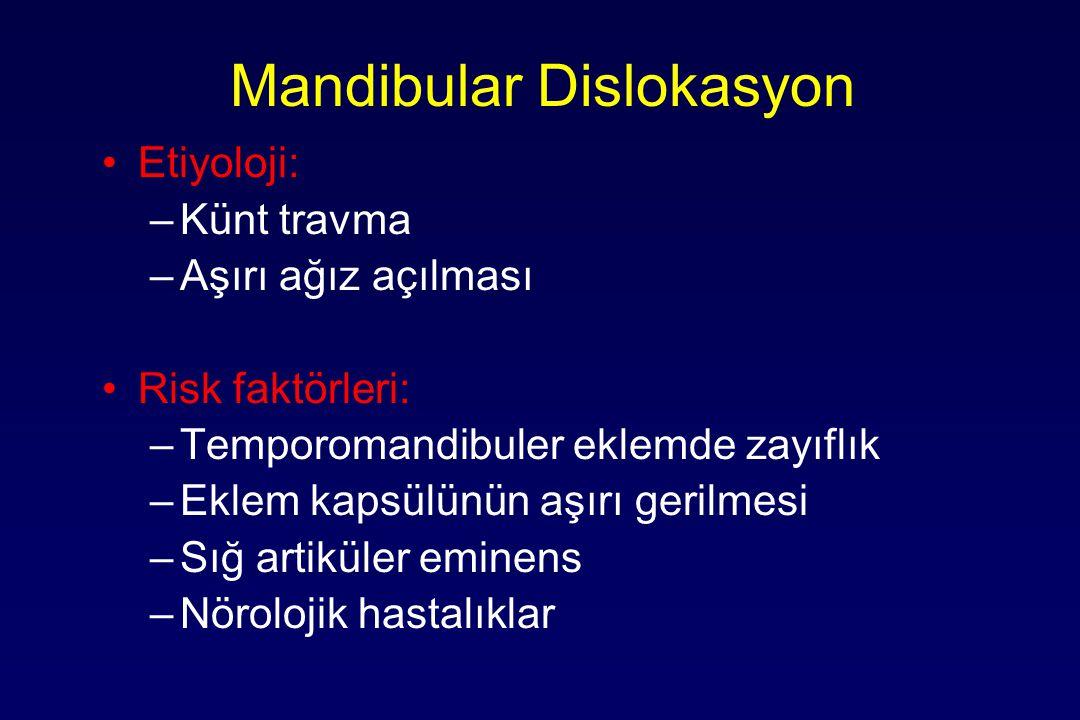 Mandibular Dislokasyon