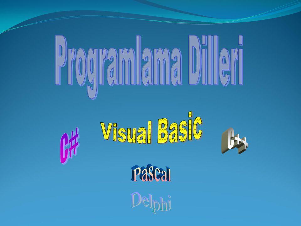 Programlama Dilleri Visual Basic C# C++ Pascal Delphi