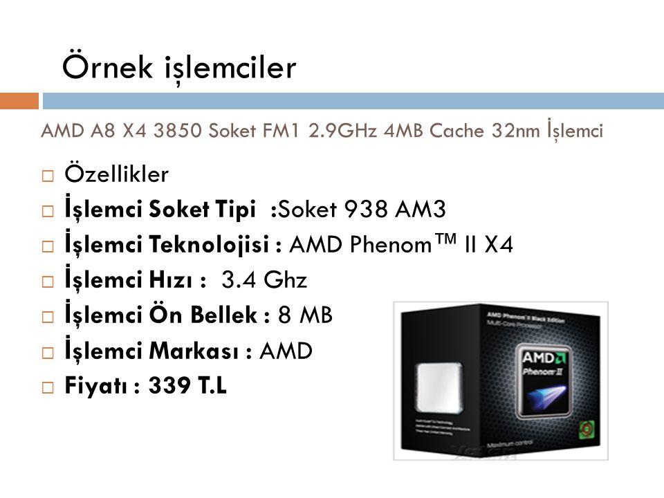 AMD A8 X4 3850 Soket FM1 2.9GHz 4MB Cache 32nm İşlemci