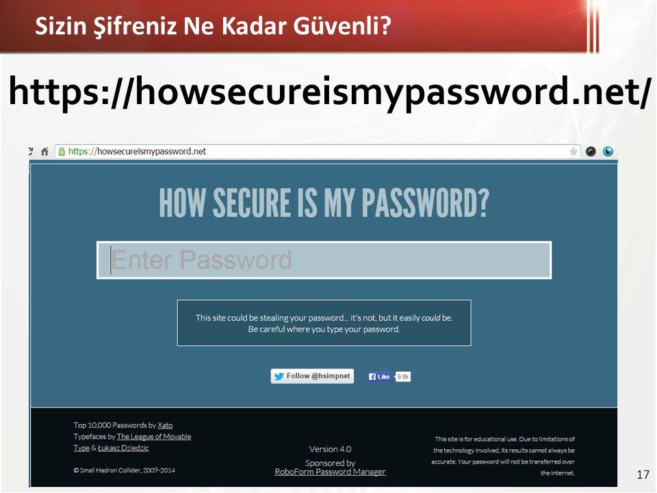 Sizin Şifreniz Ne Kadar Güvenli