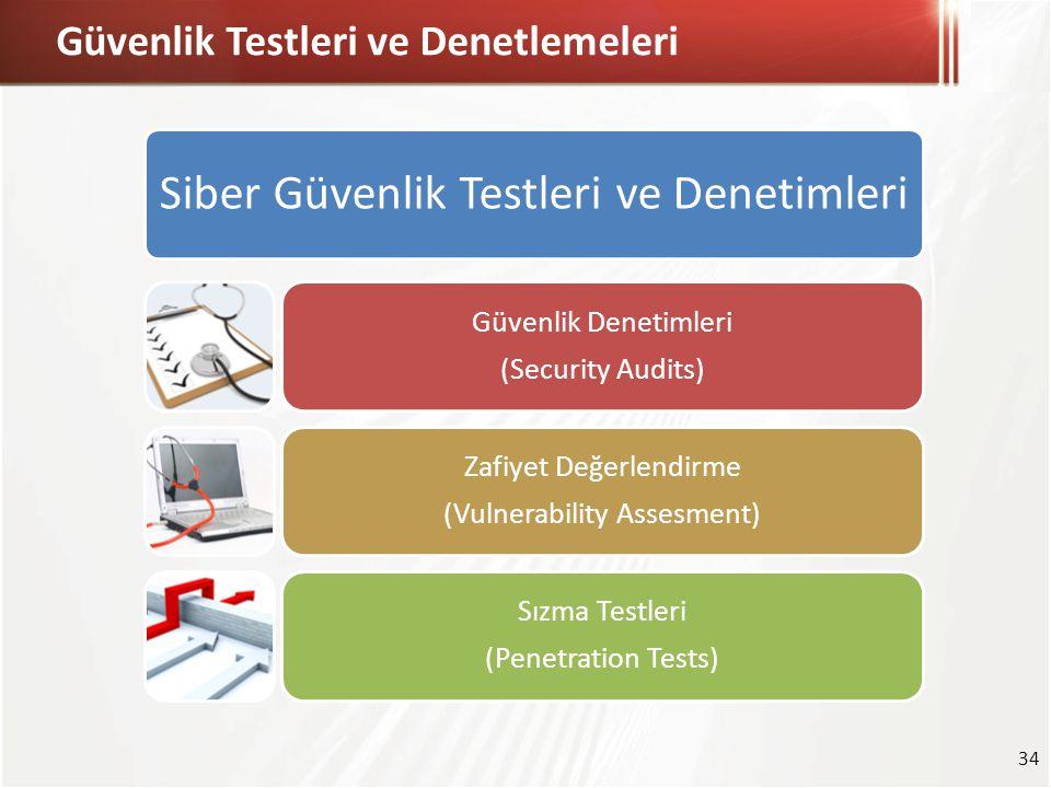 Güvenlik Testleri ve Denetlemeleri