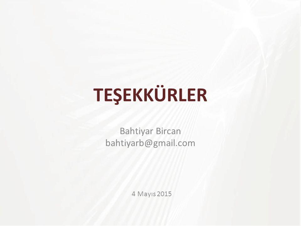 Bahtiyar Bircan bahtiyarb@gmail.com