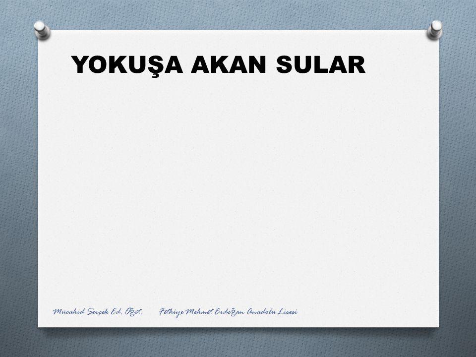 YOKUŞA AKAN SULAR Mücahid Serçek Ed. Öğrt. Fethiye Mehmet Erdoğan Anadolu Lisesi