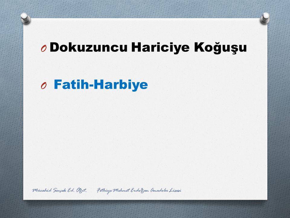 Dokuzuncu Hariciye Koğuşu Fatih-Harbiye