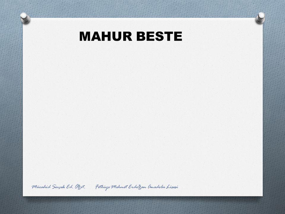 MAHUR BESTE Mücahid Serçek Ed. Öğrt. Fethiye Mehmet Erdoğan Anadolu Lisesi