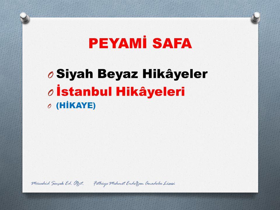 PEYAMİ SAFA Siyah Beyaz Hikâyeler İstanbul Hikâyeleri (HİKAYE)