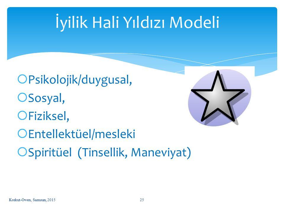 İyilik Hali Yıldızı Modeli