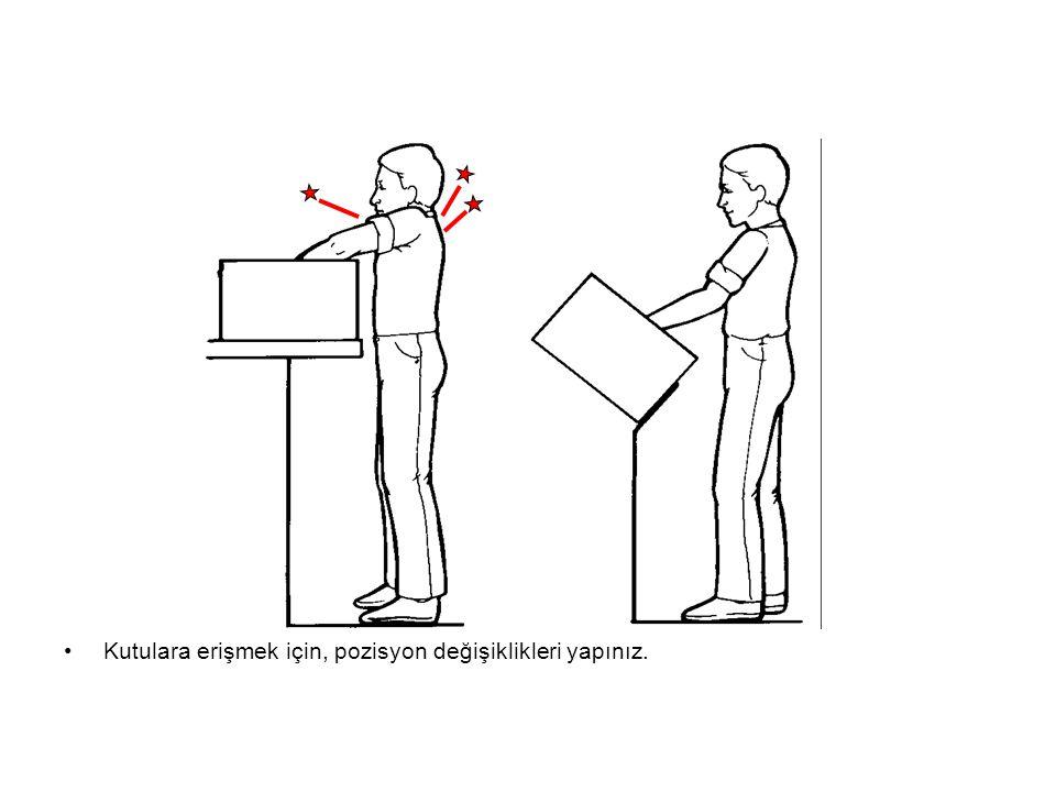 Kutulara erişmek için, pozisyon değişiklikleri yapınız.