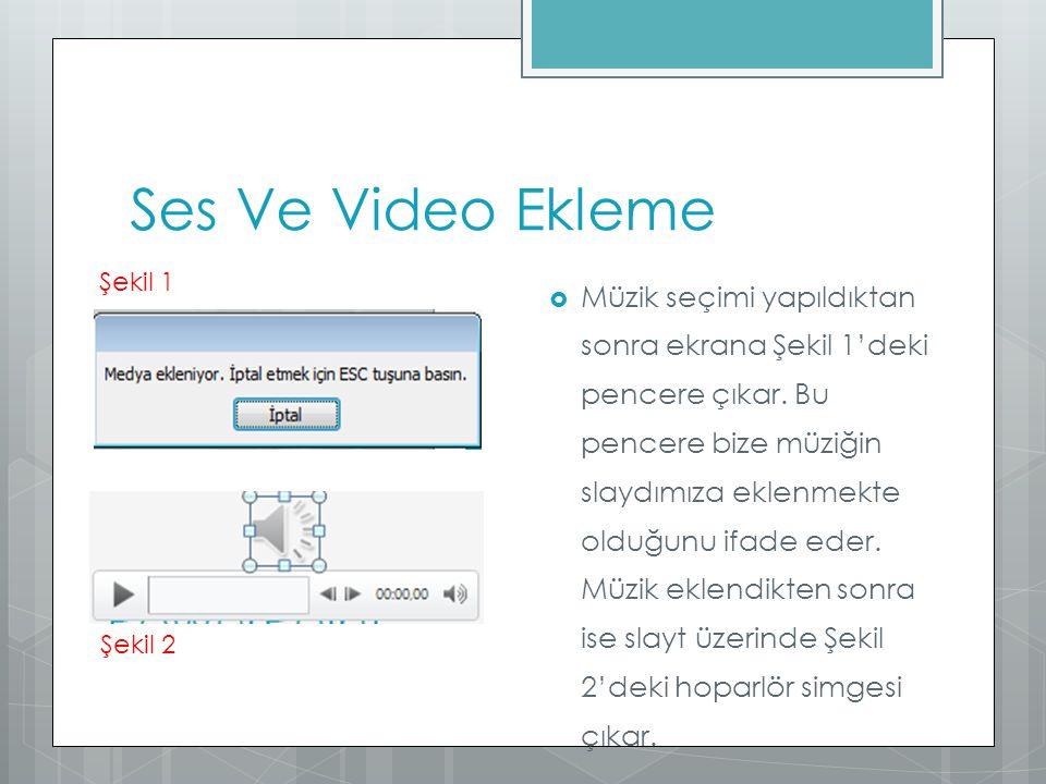 Ses Ve Video Ekleme Şekil 1.