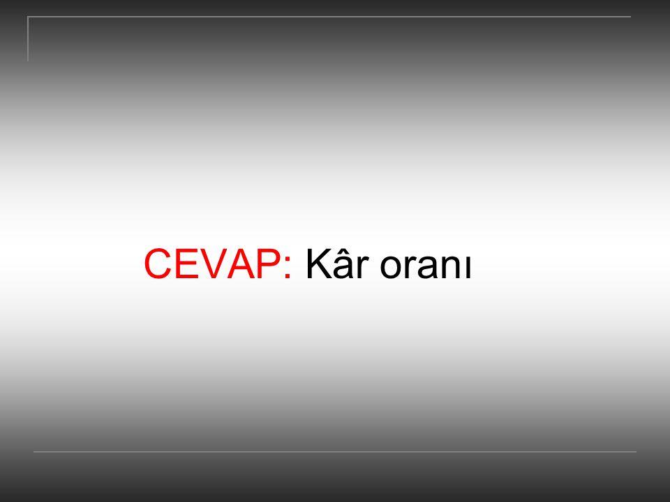 CEVAP: Kâr oranı